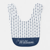 Personalized Nautical Baby Boy Bib