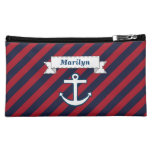 Personalized Nautical Bag Cosmetic Bags