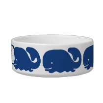Personalized Nautical Blue Whale Anchor pattern Bowl