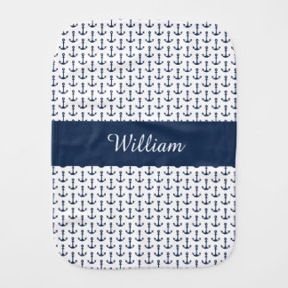 Personalized Nautical Burp Cloth