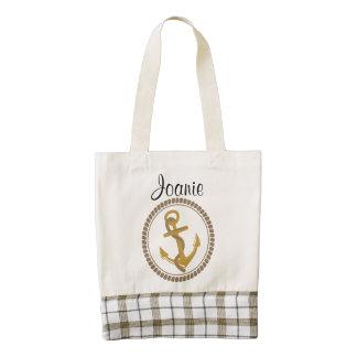 Personalized Nautical Design Tote Zazzle HEART Tote Bag