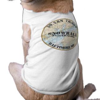 Personalized Nautical Dog Baltimore Maryland Tee