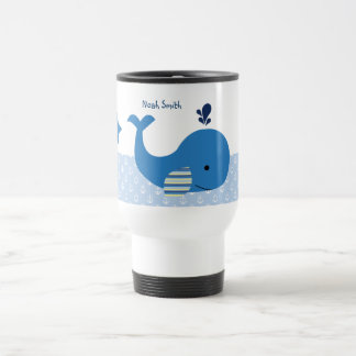 "Personalized ""Nautical Ocean Whale"" Mug"