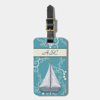 Personalized Nautical Sailboat Luggage Tag