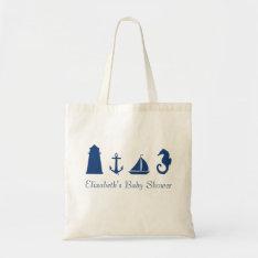 Personalized Nautical Silhouette Tote Bag at Zazzle