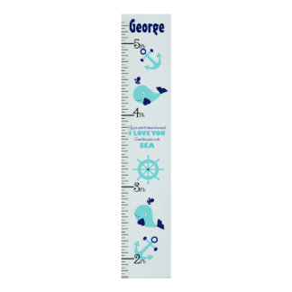 Personalized Nautical Whale Quote Growth Chart