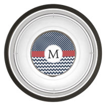 Personalized Navy and white nautical design Bowl