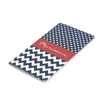 Personalized Navy and white nautical pattern Journal