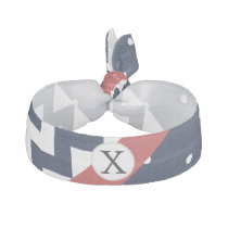 Personalized Navy and white nautical pattern Ribbon Hair Tie