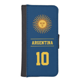 Personalized Navy Argentina Sun of May Flag iPhone 5 Wallet
