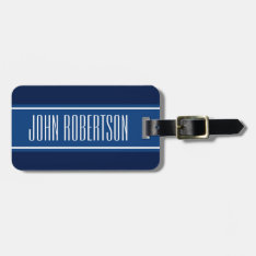 Personalized Navy Blue Luggage Tag | Elegant Style at Zazzle