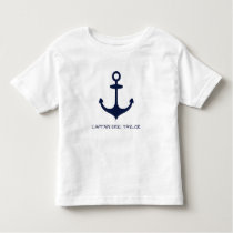 Personalized Navy Blue Nautical Anchor Toddler T-shirt