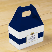 Personalized Navy Blue Nautical Heart Wedding Gift Favor Box