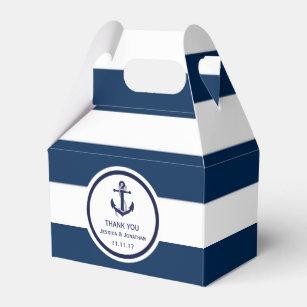 a6b8c92418bac Personalized Navy Blue Nautical Wedding Favor Favor Box
