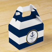 Personalized Navy Blue Nautical Wedding Favor Favor Box