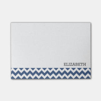Personalized Navy Chevron Post-it® Notes