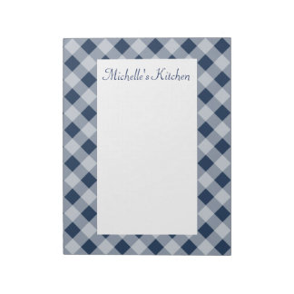 Personalized Navy Kitchen Notepad