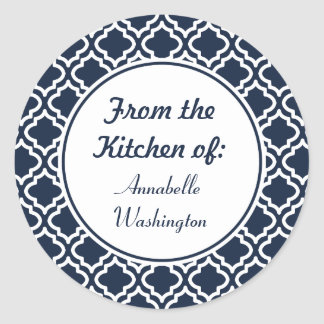 Personalized Navy Kitchen Stickers