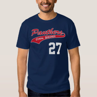 Personalized Navy Panther t-shirt