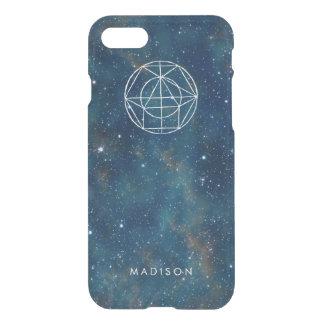 Personalized Nebula Galaxy Stars Geometry Pattern iPhone 7 Case
