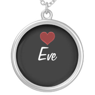 Personalized Necklace-EVE Sterling Silver Cool Round Pendant Necklace