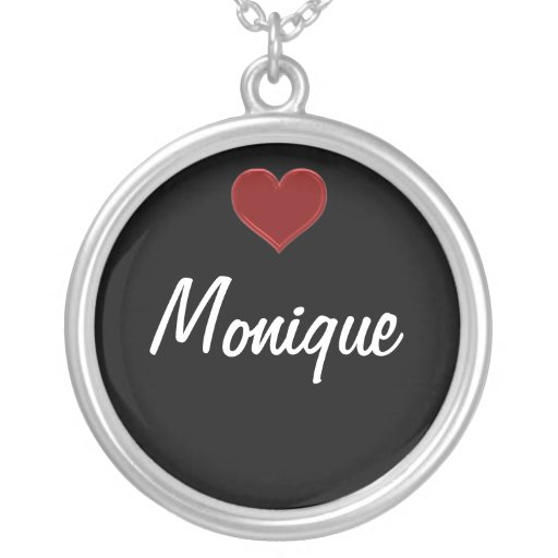 Personalized Necklace-MONIQUE Sterling Silver Cool