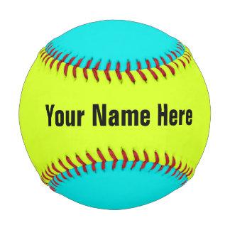 Personalized Neon Colored Baseball