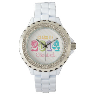 PERSONALIZED NEON RAINBOW CLASS OF 2014 WATCHES