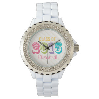 PERSONALIZED NEON RAINBOW CLASS OF 2015 WATCHES