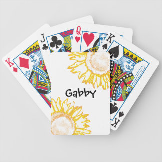 Personalized Neon Yellow Sunflowers Playing Cards