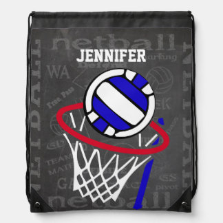 Personalized Netball Drawstring Backpack