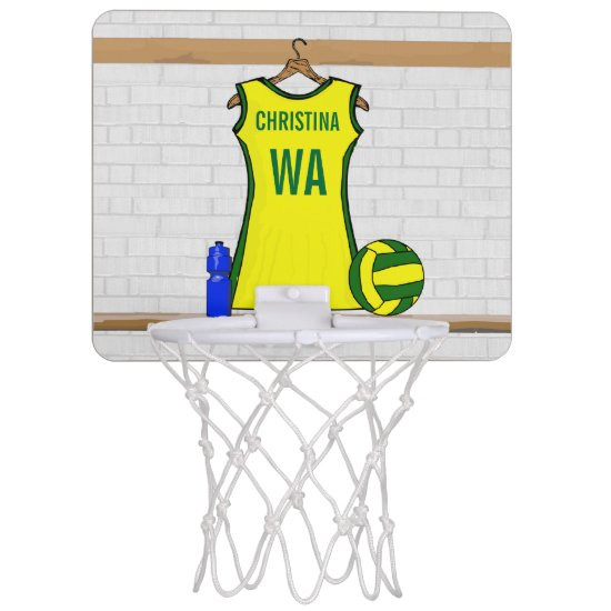 Personalized Netball mini practice hoop