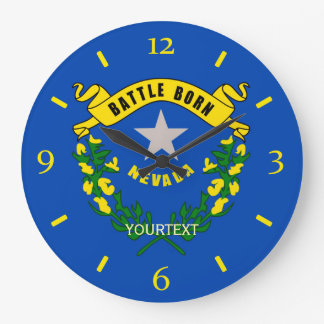 Personalized Nevada State Flag Design on a Large Clock