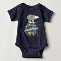 Personalized Never Forget Pluto Cute Bear Baby Bodysuit