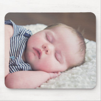 Personalized New Baby Boy Photo Mouse Pad