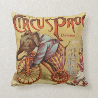 Personalized New Baby Boy s Room Circus Elephant Throw Pillow