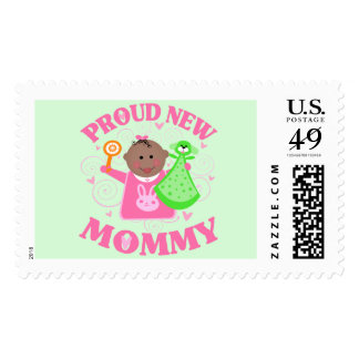 Personalized New Baby Girl Postage Stamp Ethnic
