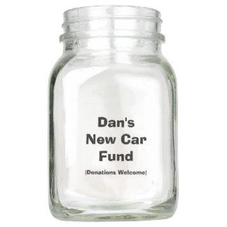 "Personalized ""New Car Fund"" Jar"