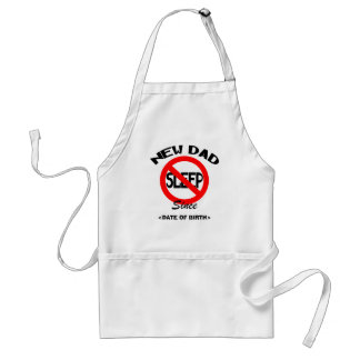 Personalized New Dad No Sleep Gift Adult Apron