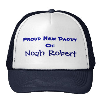 Personalized New Daddy Trucker Hat