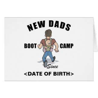 Personalized New Dads Boot Camp Cards