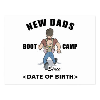 Personalized New Dads Boot Camp Cards Postcards