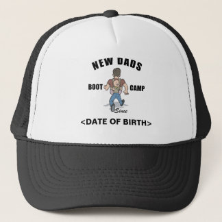 Personalized New Dads Boot Camp T-Shirt Trucker Hat