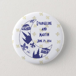 Personalized New Orleans Crescent Moon Button