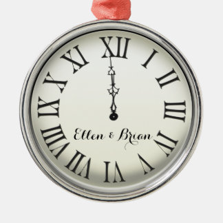 Personalized New Year's Eve Metal Ornament