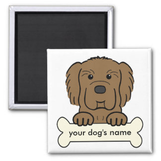 Personalized Newfoundland 2 Inch Square Magnet