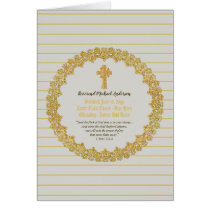Personalized Newly ORDAINED Priest Pastor Deacon Card