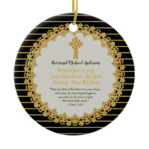 Personalized Newly ORDAINED Priest Pastor Deacon Ceramic Ornament