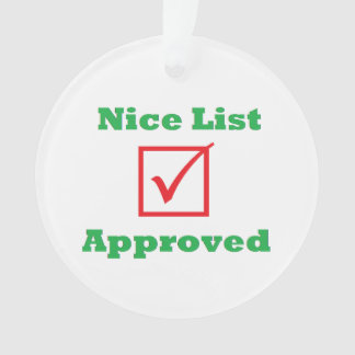 "Personalized ""Nice List Approved"" Ornament"