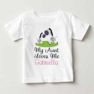 Personalized Niece Zebra Tee Shirt